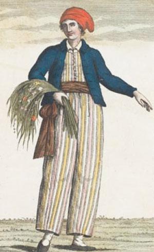 איור משנת 1817, המתאר את ג'יין בארט מחופשת לגבר