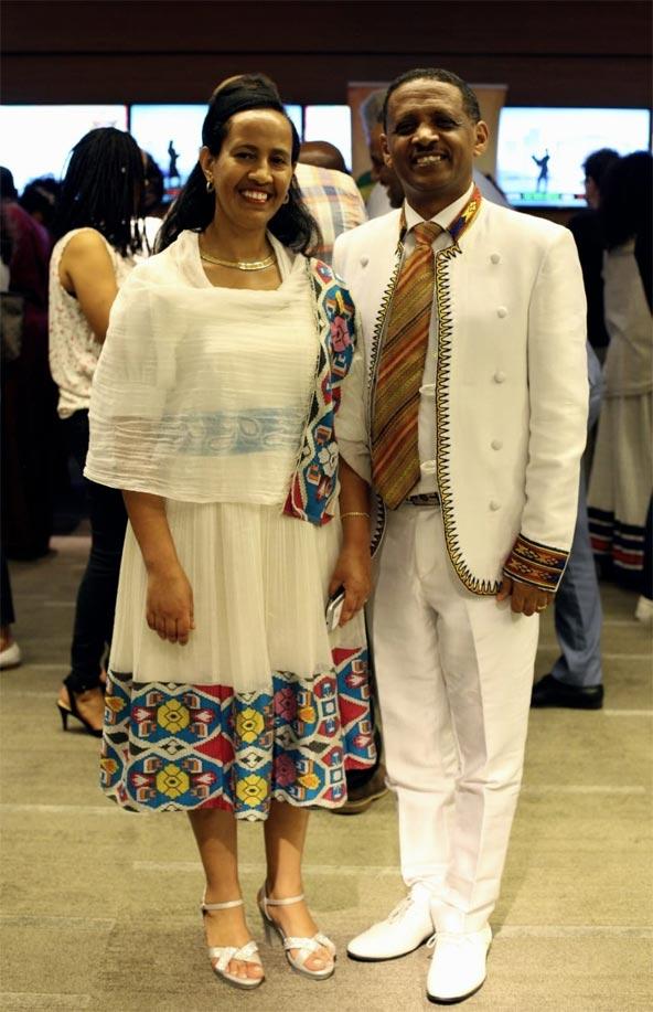 """שגריר אתיופיה בישראל ומנכ""""לית אתיופיאן איירליינס באירוע """"טעמה של אתיופיה בעולם""""   צילום: מיקה גורביץ"""