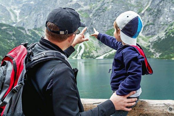 אב ובן בהרי הטטרה בפולין