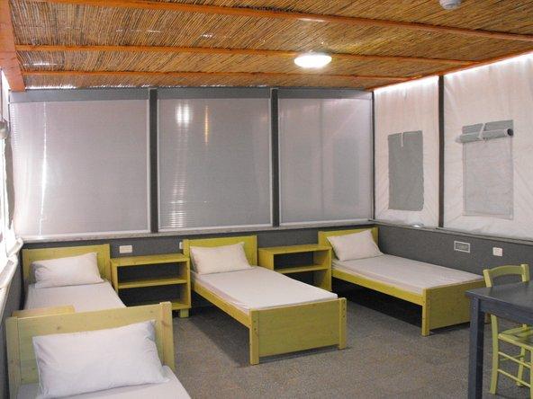 חדרי האירוח בפארק הירדן. חדרים בסיסיים ונוחים עם כל מה שצריך כשרוצים לישון בזול, קרוב לטבע