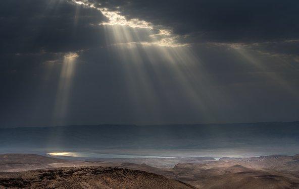תצפית על ים המלח ממצפור מואב | צילום: אייל תמיר