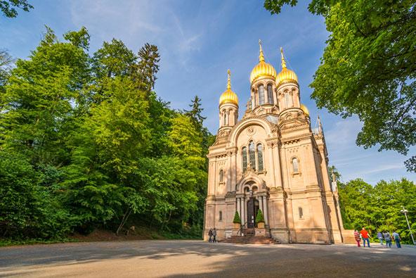 הכנסייה הרוסית בנרוברג, גבעה המשקיפה על ויסבאדן