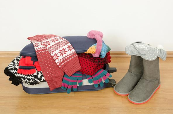לחופשה משפחתית בחורף עדיף לקחת מזוודה גדולה ונוחה במקום טרולי קטן ודחוס