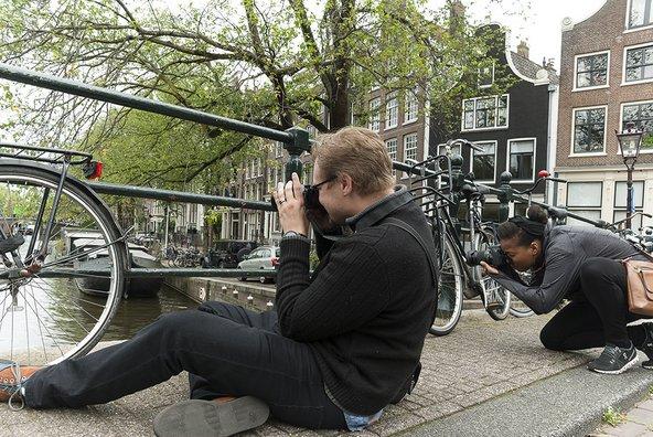 תיירים בסדנת צילום של ענבל טור שלום באמסטרדם | צילום: ענבל טור שלום