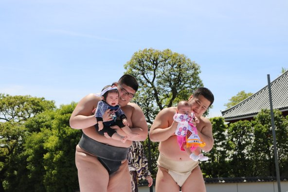 טקס סומו תינוקות במקדש בטוקיו. השתתפות בפסטיבלים וטקסים מקומיים מוסיפה הרבה ערך לטיול | צילום: טל טארו
