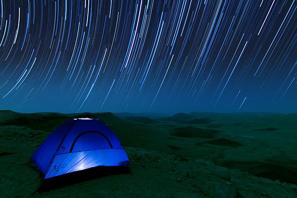במקום השני: מסלולי כוכבים במכתש רמון | צילום: כפיר ולר