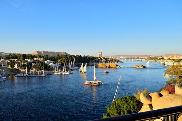 סירות על הנילוס באסוואן
