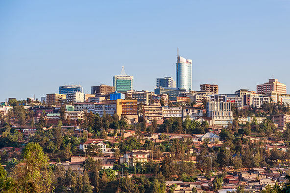 קיגאלי, בירת רואנדה. שלוש טיסות שבועיות בין ישראל לרואנדה