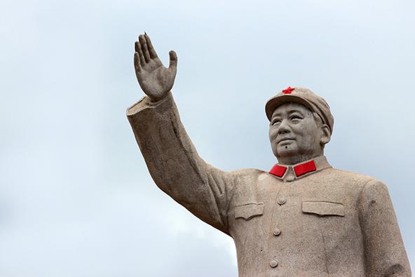 פסל של מאו בעיר ליג'יאנג