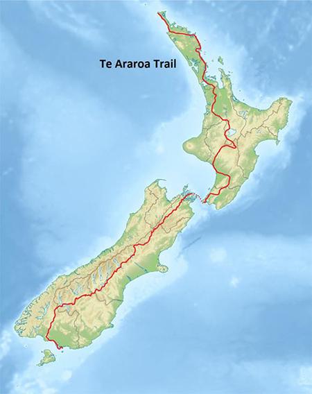 טה אררואה, השביל החוצה את ניו זילנד לכל אורכה