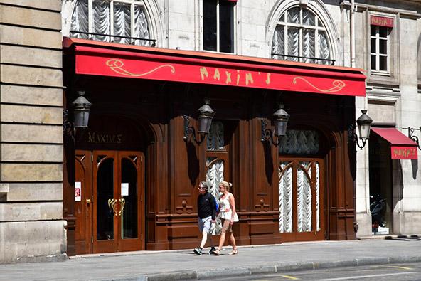 הכניסה למסעדת מקסים. כל המי ומי של המאה ה-20 אכלו כאן