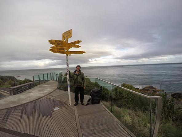 בלאף, הנקודה הדרומית ביותר באי הדרומי וסופו של השביל