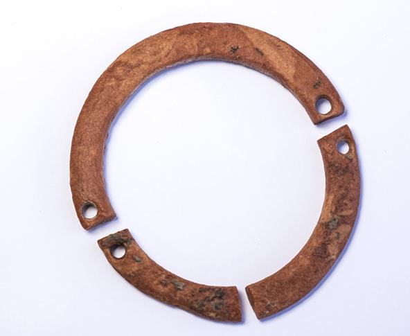 צמידים רבים נמצאו באתר, לפי הגודל נראה כי היו של ילדים | צילום: יניב ברמן, רשות העתיקות