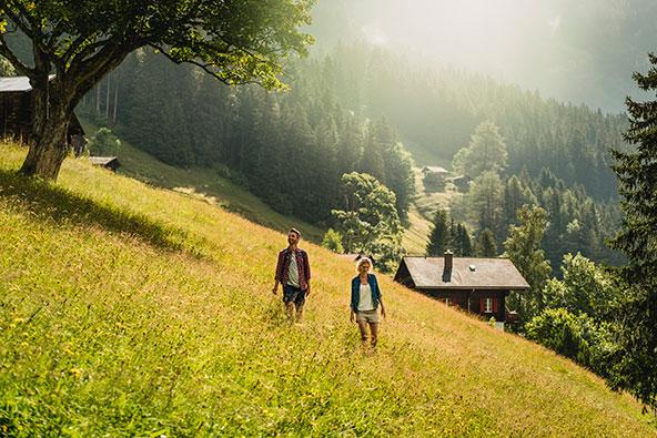 טיול רגלי בוונגן והסביבה משכיח את חום יולי-אוגוסט | צילום: swiss-image.ch/Ivo Scholz