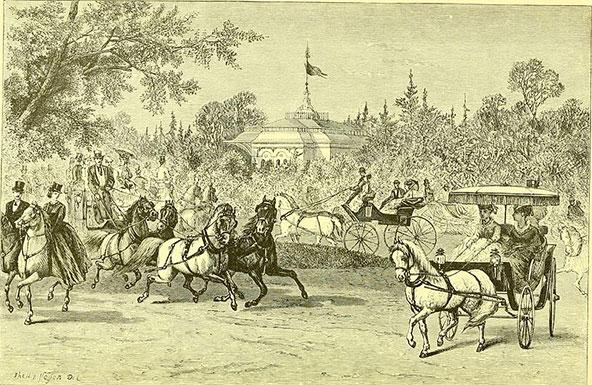 סנטרל פארק בתחילת דרכו, איור מ-1870