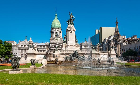 """בניין הקונגרס הלאומי בבואנוס איירס. לא במקרה בירת ארגנטינה מכונה """"פריז של דרום אמריקה"""""""