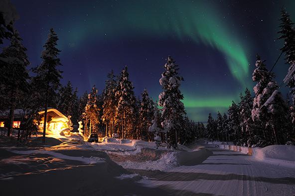 הזוהר הצפוני מעל לפלנד הפינית