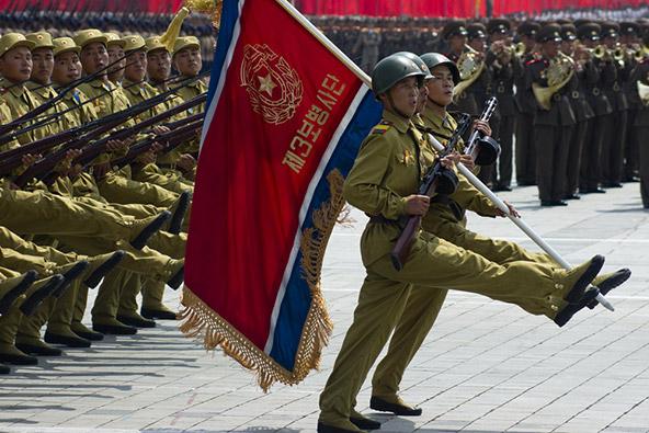 מצעד צבאי בפיונגיאנג, בירת צפון קוריאה