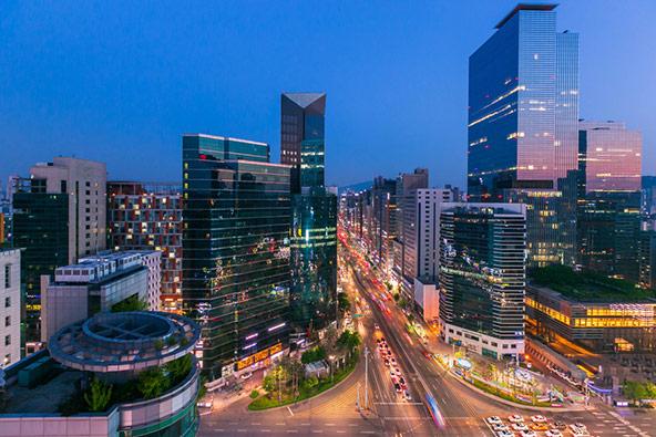 גורדי השחקים של סיאול, בירת דרום קוריאה