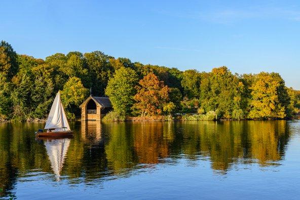 נוף פסטורלי באגם ואנזה