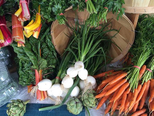 תוצרת חקלאית מקומית בשוק האיכרים שבחוות קאסי ברוד איינלד