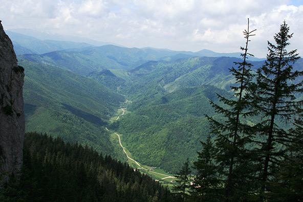 מבט מלמעלה על השביל שבו טיפסנו