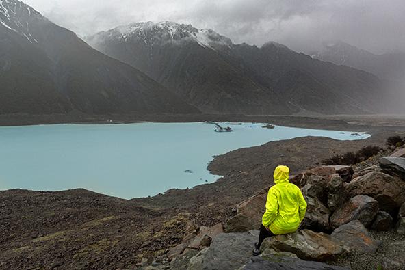 קרחון טסמן בגשם