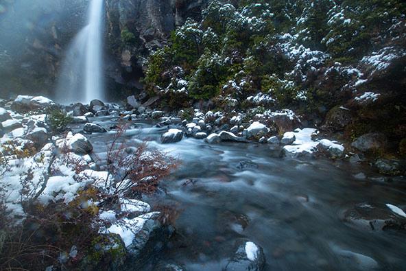 מפלי טרנאקי שלג