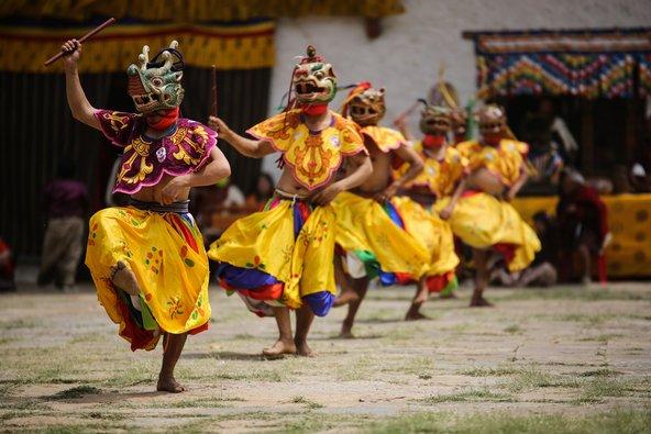 בבהוטן יש פסטיבלים רבים שמאפשרים להיחשף למסורות המקומיות