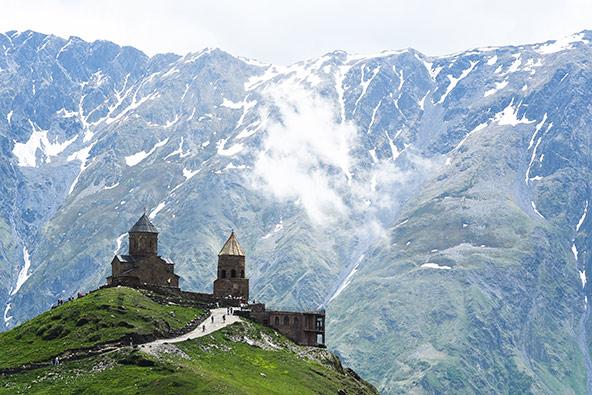 כנסיית השילוש הקדוש. הסמל המוכר ביותר של גאורגיה
