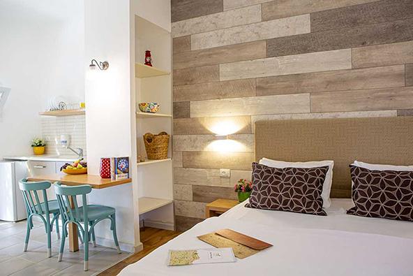 יחידת אירוח במלון מטיילים מלכיה. עיצוב מקסים ונוחות מקסימלית