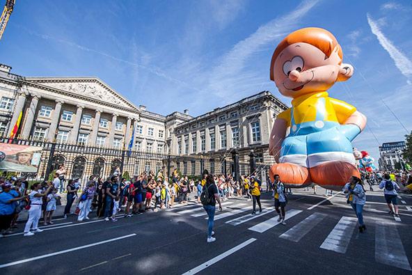 פסטיבל הקומיקס, אחד מהחגיגות והפסטיבלים הרבים המתרחשים בבריסל לאורך כל השנה
