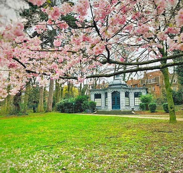 פארק Wolvendael בדרום-מערב בריסל, עיר המצטיינת בגנים ופארקים רבים | הצילום באדיבות מסעדת Le Louis XV