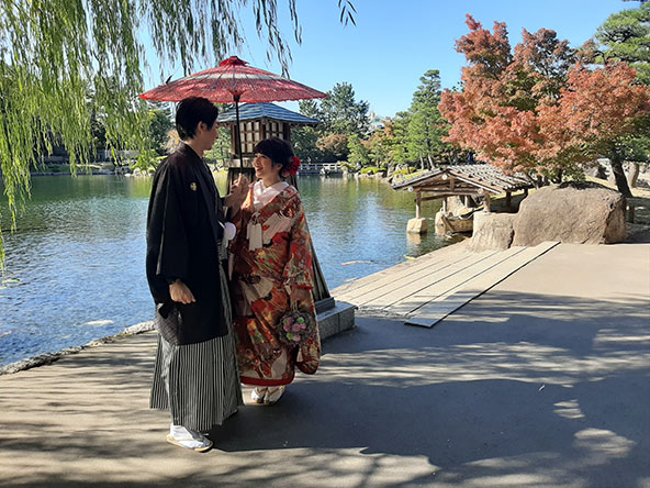 צילומים שלפני החתונה בגני טוקוגאווה-אן בנגויה
