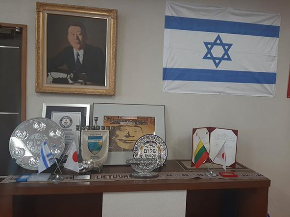 פינה בעיריית יאוטסו המוקדשת לסוגיהארה ולמשולש היחסים בין יפן, ישראל וליטא