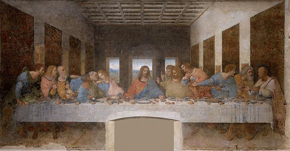 הסעודה האחרונה, ציור הקיר המפורסם של לאונרדו דה וינצ'י, נמצא בכנסייה במילאנו