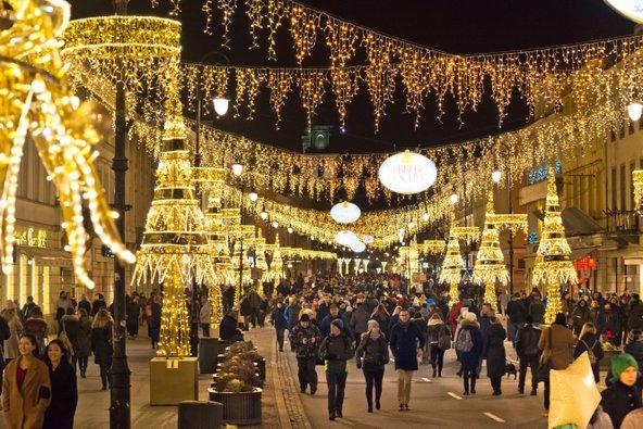 תקופת חג המולד היא זמן נהדר לביקור בוורשה