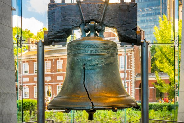 פעמון החירות, סמלה של פילדלפיה | צילום: foto-select / Shutterstock.com
