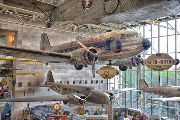 בוושינגטון די סי יש מוזיאונים מלהיבים לכל המשפחה, כמו מוזיאון התעופה והחלל | צילום: Evdoha_spb / Shutterstock.com