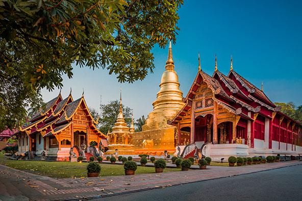 מקדש וואט פרה סינג בצ'אנג מאי. העיר בצפון תאילנד מתאימה מאוד גם למטיילים מבוגרים