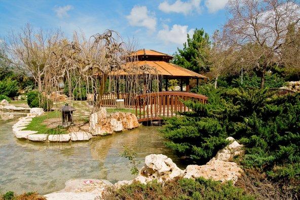 הגן היפני בפארק פרס בחולון. עיר הילדים הפכה להיות עיר ירוקה הגדושה בפארקים וגנים