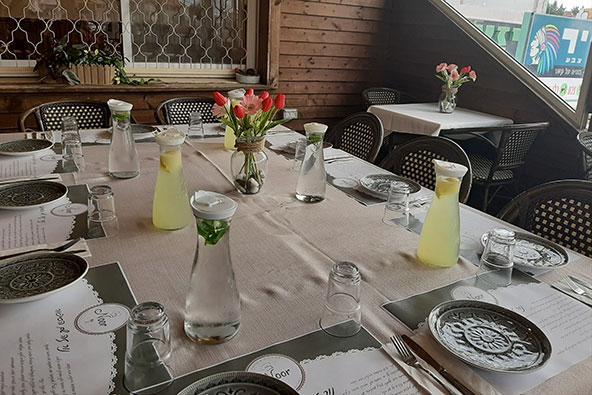 נור, מסעדה דרוזית בלב הכפר ג'וליס