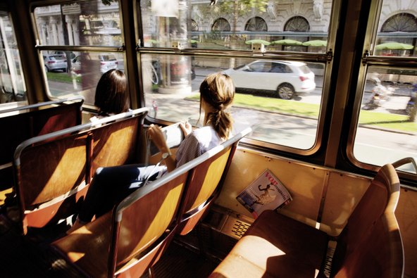 טראם ברינגשטראסה. התחבורה הציבורית בווינה מצוינת | צילום: © WienTourismus/Peter Rigaud