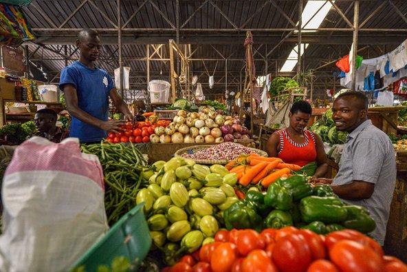 דוכן ירקות ופירות בשוק קימירונוקו   צילום: Oscar Espinosa / Shutterstock.com