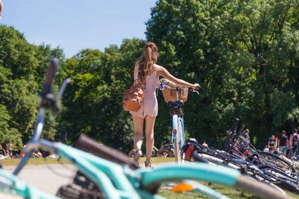 מינכן היא עיר ידידותית לרוכבי אופניים