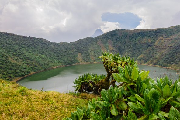 האגם הגעשי בפסגת הר ביסוקה