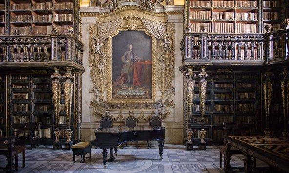 הספרייה העתיקה באוניברסיטה של קוימברה