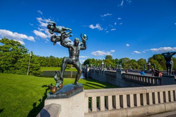 פסלים בפארק ויגלנד באוסלו
