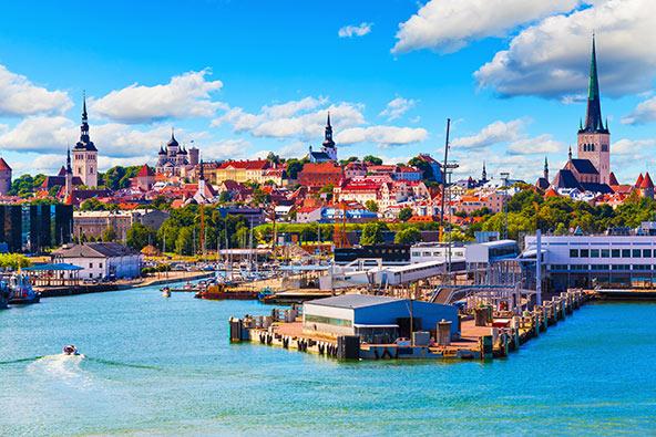 טאלין, בירת אסטוניה. המדינות הבלטיות (ליטא, לטביה ואסטוניה) מתכננות לפתוח את הגבולות ביניהן