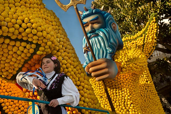 פסטיבל הלימון במנטון, פברואר 2019. השנה אירועים ופסטיבלים לא יתקיימו לפחות עד ספטמבר